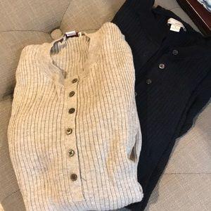 Ribbed 3/4 sleeve sweaters Gap